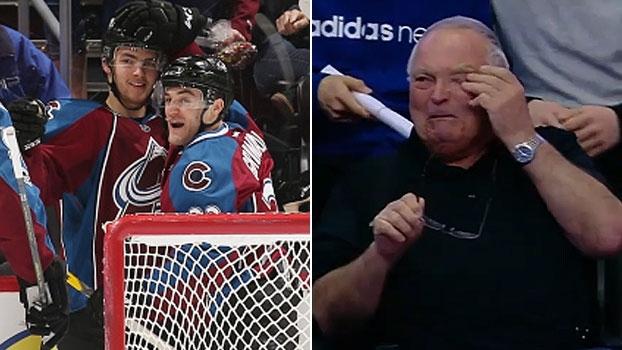 Avô se emociona com primeiro gol de neto na NHL