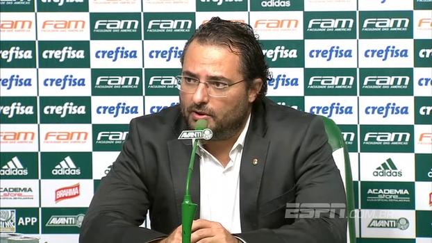 Alexandre Mattos lembra dificuldades e elogia 2017 do Palmeiras