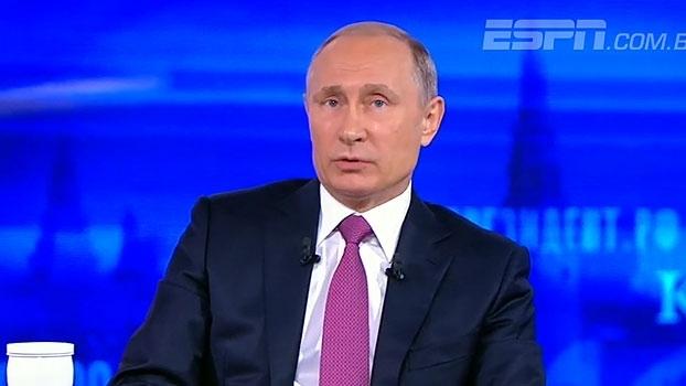 Questionado sobre seleção, Putin fala em pouca atenção no desenvolvimento de jovens no futebol russo