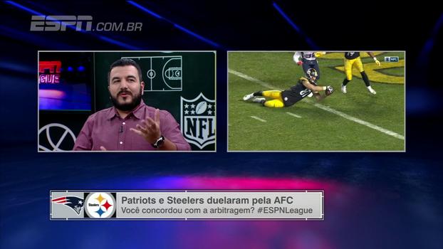 Eduardo Zolin explica lance polêmico em Steelers x Patriots e como a regra se aplica