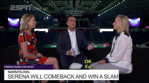 Martina Navrátilová e Chris Evert fazem previsões para a temporada de 2018 do tênis feminino