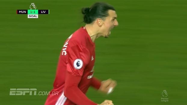 Tempo real: GOL do United! Após Fellaini acertar a trave, Valencia toca para Ibrahimovic fazer de cabeça