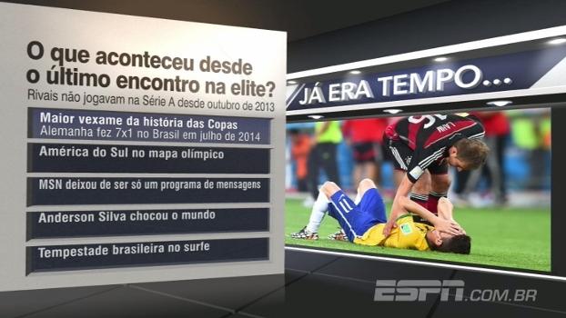 Depois de 4 anos, Botafogo e Vasco se encontraram na elite do futebol brasileiro