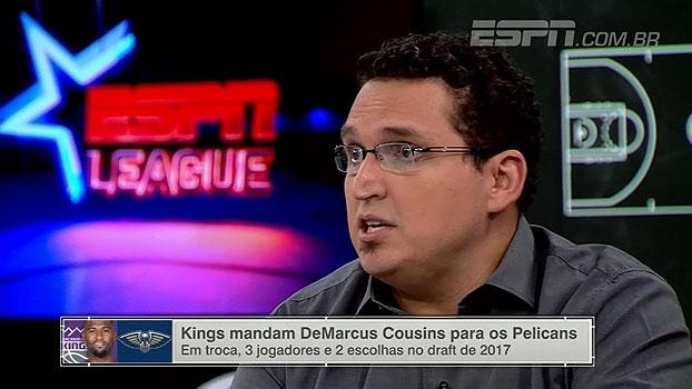 'ESPN League' avalia troca por Cousins e questiona diretoria dos Kings: 'Eles draftam mal'