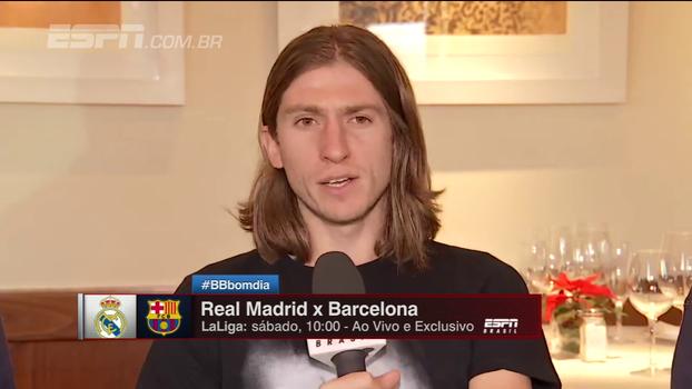 Filipe Luís: 'Diferença do Barcelona para o resto é que tem o Messi'