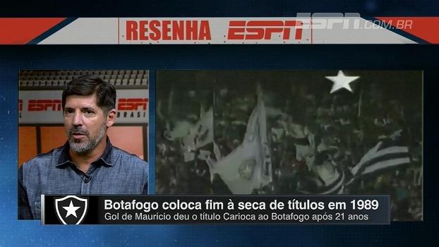 Gottardo diz que até torcida do Flamengo aplaudiu título de 89: 'O Brasil estava torcendo para o Botafogo'