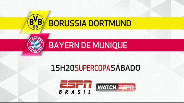 Vale taça! Dortmund e Bayern de Munique se enfrentam neste sábado, às 15h20, na ESPN Brasil e WatchESPN