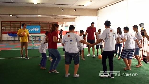 Caravana do Esporte: ESPN visita o CEU Navegantes e se diverte com a molecada