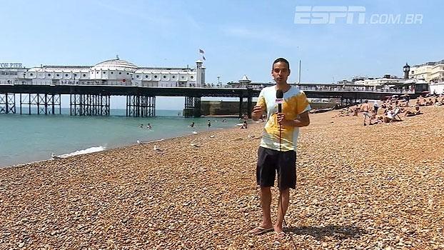 De bermuda e chinelo, João Castelo entra no clima da cidade e conta história do novo membro da Premier League