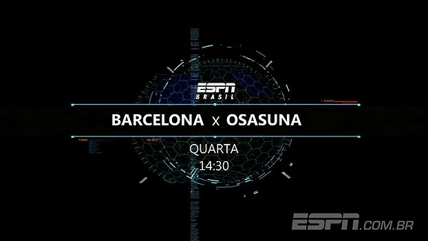 É amanhã! Barcelona x Osasuna rola nesta quarta, na ESPN Brasil e WatchESPN, às 14h30