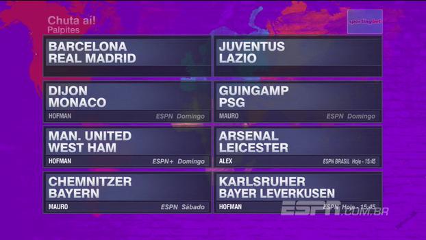 Fim de semana de supercopas e ligas nacionais na Europa: veja os palpites do Futebol no Mundo