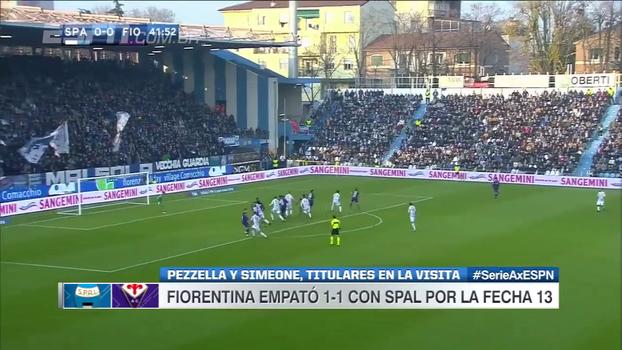 SPAL fica no empate contra a Fiorentina e se aproxima da zona de rebaixamento no italiano