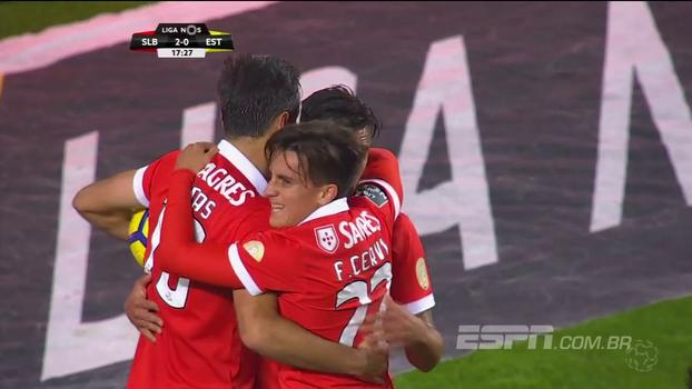 Assista aos melhores momentos da vitória do Benfica sobre o Estoril por 3 a 1!