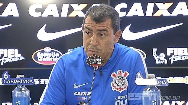 Carille pede mais 'tranquilidade' ao ataque do Corinthians: 'Estamos chegando'