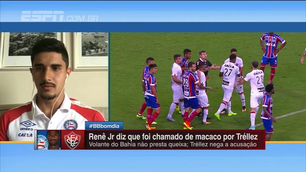 Zagueiro do Bahia conta os bastidores depois de Renê Júnior sofrer ofensa racista: 'Ele estava bem cabisbaixo e chorando'