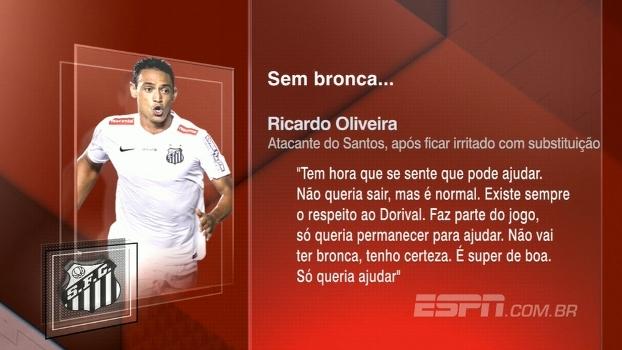 Irritação! BB Bom Dia analisa declarações de Ricardo Oliveira após empate do Santos