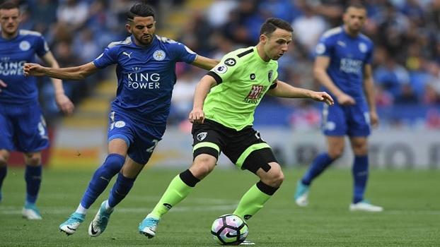Confira os gols do empate por 1 a 1 entre Leicester City e Bournemouth
