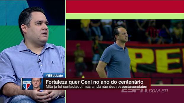 Bertozzi não vê Ceni logo em outro time grande e analisa Fortaleza: 'Cenário muito interessante'