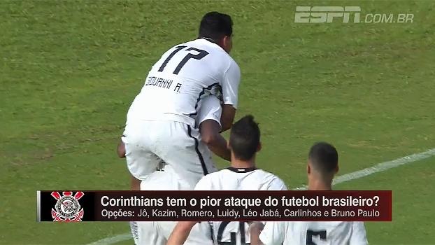 Corinthians tem o pior ataque do Brasil? Hofman analisa: 'Está entre os piores'