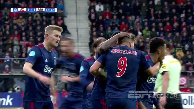 Com assistência de David Neres, Ajax vence o AZ de virada por 2 a 1