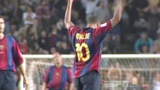 Rivaldo é o brasileiro que mais marcou contra o Valencia com a camisa do Barcelona
