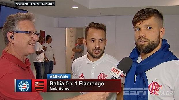 Diego e Éverton Ribeiro avaliam estreia de novo meia e falam sobre atuar no Fla: 'Tem algo de diferente'