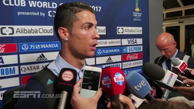 Cristiano Ronaldo vê Real confiante para encarar o Barcelona e comemora: 'Cinco troféus em um ano'
