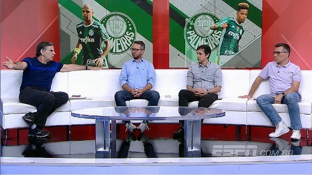 Para João, Felipe Melo não aceita críticas; Maurício Barros questiona imagem que Palmeiras passa