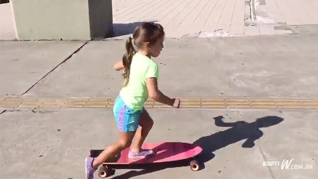 Dia das Crianças vem aí! Filha da comentarista Dani Zangrando dá show em diferentes esportes