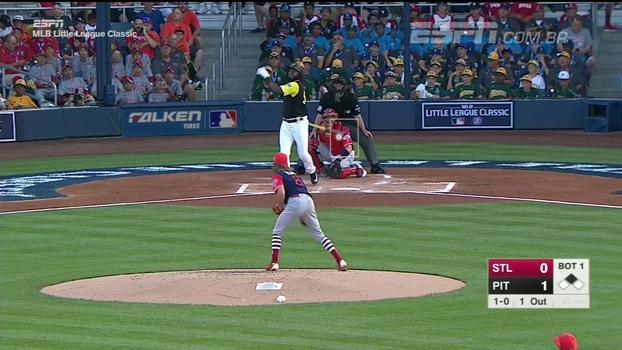 Josh Bell vai bem e Pirates vencem os Cardinals por 6 a 3