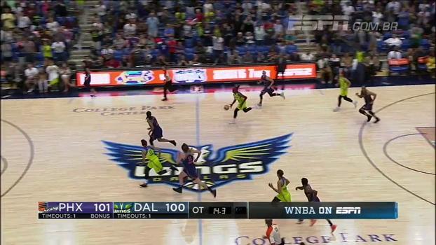 Com prorrogação, Phoenix Mercury vence de virada Dallas Wings pela WNBA
