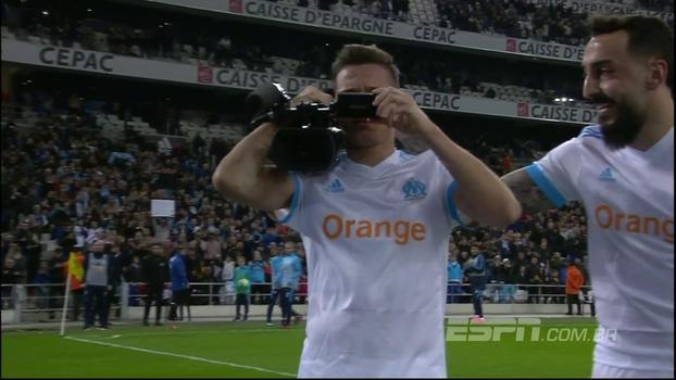 Luiz Gustavo marca, Thauvin tira onda e Olympique goleia sem dó o Caen