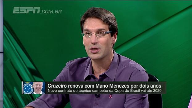 Arnaldo analisa 'investimento muito alto' do Cruzeiro para renovar com Mano Menezes
