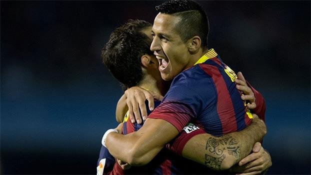 Espanhol: Gols de Celta de Vigo 0 x 3 Barcelona
