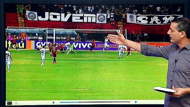 Sálvio mostra pênalti não marcado para o Santos contra o Sport: 'Evitou o gol com o braço'