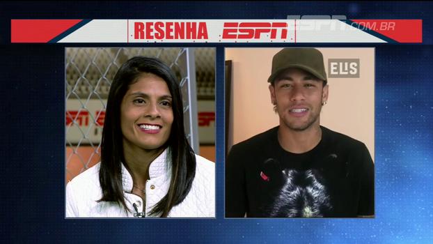 Em espanhol, Neymar parabeniza por sucesso e manda recado a Sole Jaimes no Resenha ESPN