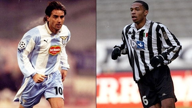 Thierry Henry fez dois e Juventus bateu líder Lazio de Roberto Mancini no Italiano em 1999