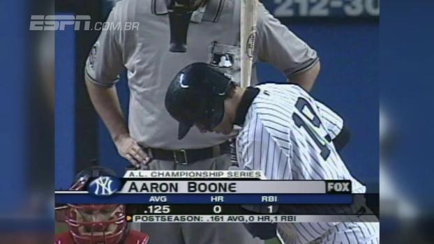 Novo técnico dos Yankees, Aaron Boone brilhou no jogo 7 da ALCS em 2003 contra os Red Sox; relembre