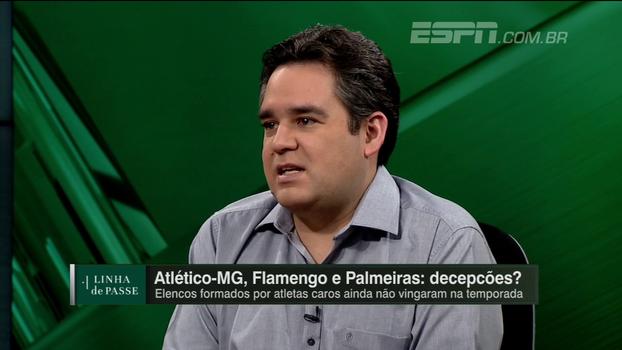 Para Bertozzi, Atlético-MG e Palmeiras estão jogando pior que o Flamengo