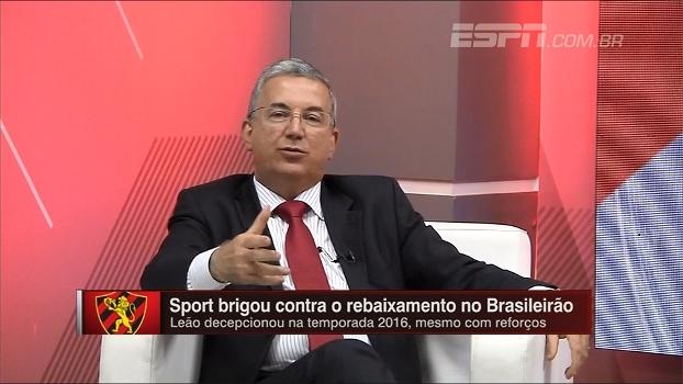 Novo presidente do Sport fala sobre situações de Diego Souza e Rithely