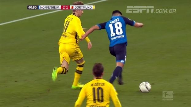 Veja polêmica expulsão de Reus no empate entre Dortmund e Hoffenheim