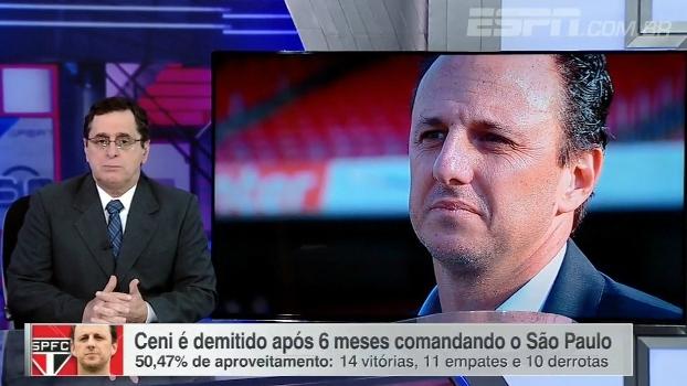 Antero analisa queda de Rogério Ceni: 'Deu a lógica! Sempre sobra para o técnico'
