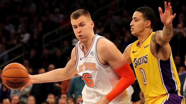Com show de Porzingis, Knicks vencem Lakers na prorrogação pela NBA
