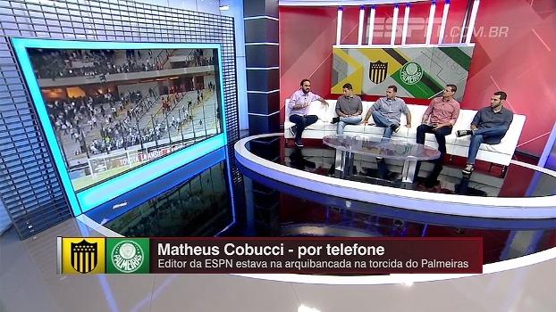 Falta de policiamento, pedras, bomba: editor da ESPN relata tensão na torcida do Palmeiras