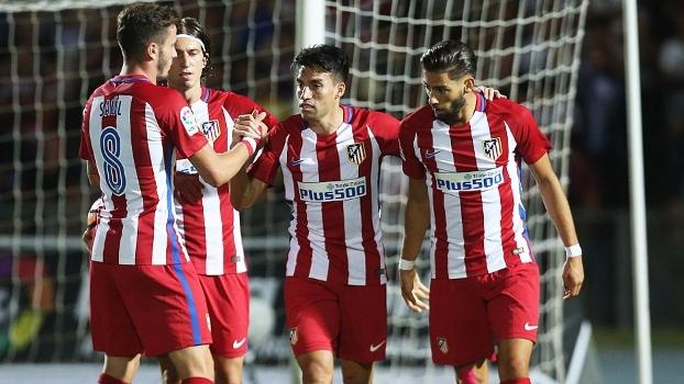 Gaitán estreia com gol, e Atlético de Madri vence amistoso