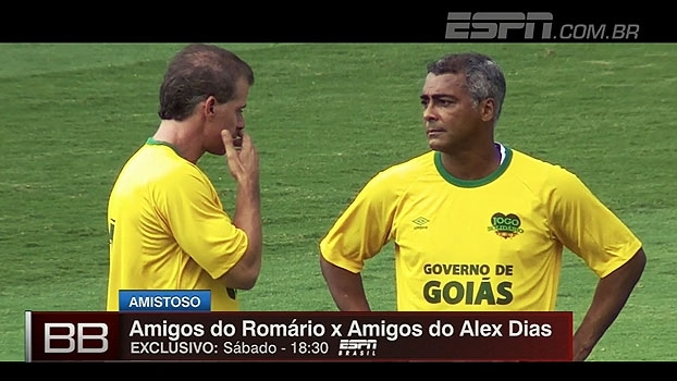 Baixinho em campo! Neste sábado tem Amigos de Romário x Amigos de Alex Dias, às 18h30, na ESPN Brasil