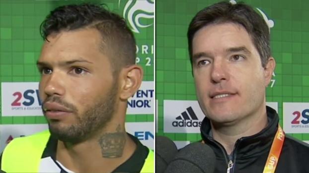 Carlos diz que ainda está pegando ritmo de jogo; Diogo Giacomini ressalta diferença de idade