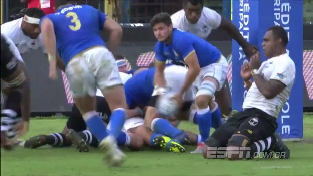 Em jogo equilibrado, Itália vence Fiji por 19 a 10