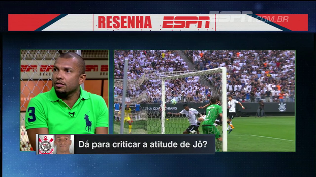 Comentaristas do 'Resenha ESPN' divergem sobre atitude de Jô em gol com mão; Amoroso: 'Esse tal de fair play não existe'