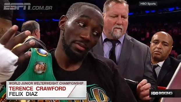 No boxe, Terence Crawford mantém recorde e vence Felix Diaz por nocaute técnico